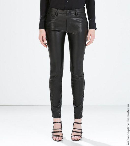 Брюки, шорты ручной работы. Ярмарка Мастеров - ручная работа. Купить Кожаные штаны, кожаные брюки женские. Handmade. Черный