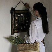 """Часы классические ручной работы. Ярмарка Мастеров - ручная работа Часы """"Таверна""""№3. Handmade."""