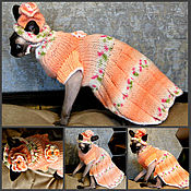 """Для домашних животных, ручной работы. Ярмарка Мастеров - ручная работа Платье для кошки """" Персик"""". Handmade."""