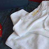 """Одежда ручной работы. Ярмарка Мастеров - ручная работа Туника  """"Мечты...Мечты..."""" из белого итальянского хлопка. Handmade."""