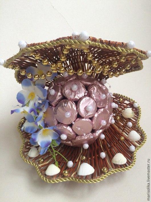Кулинарные сувениры ручной работы. Ярмарка Мастеров - ручная работа. Купить Ракушка с жемчужиной. Handmade. Розовый, подарок девушке, пеноплекс