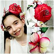 """Свадебный салон ручной работы. Ярмарка Мастеров - ручная работа """"luxury rose""""-ободок для невесты из японского бархата.. Handmade."""