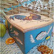 """Для дома и интерьера ручной работы. Ярмарка Мастеров - ручная работа Чайный короб """"Петушок"""". Handmade."""