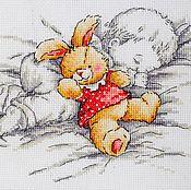 Картины и панно ручной работы. Ярмарка Мастеров - ручная работа Малыш с зайкой. Handmade.