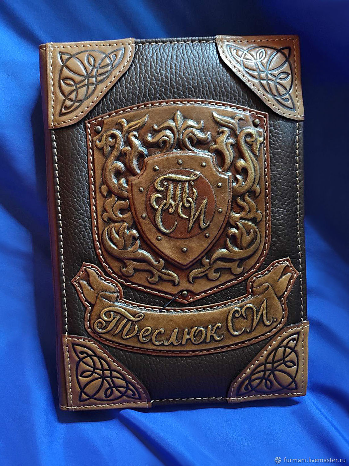 Leather notebook with initials, Diaries, Krivoy Rog,  Фото №1