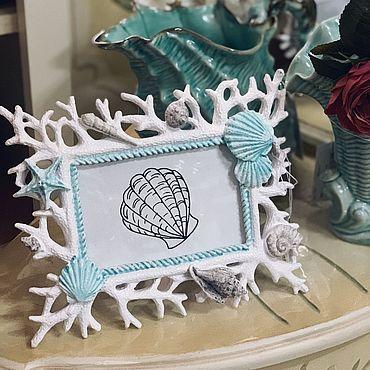 Для дома и интерьера ручной работы. Ярмарка Мастеров - ручная работа Фоторамка Кораллы. Handmade.