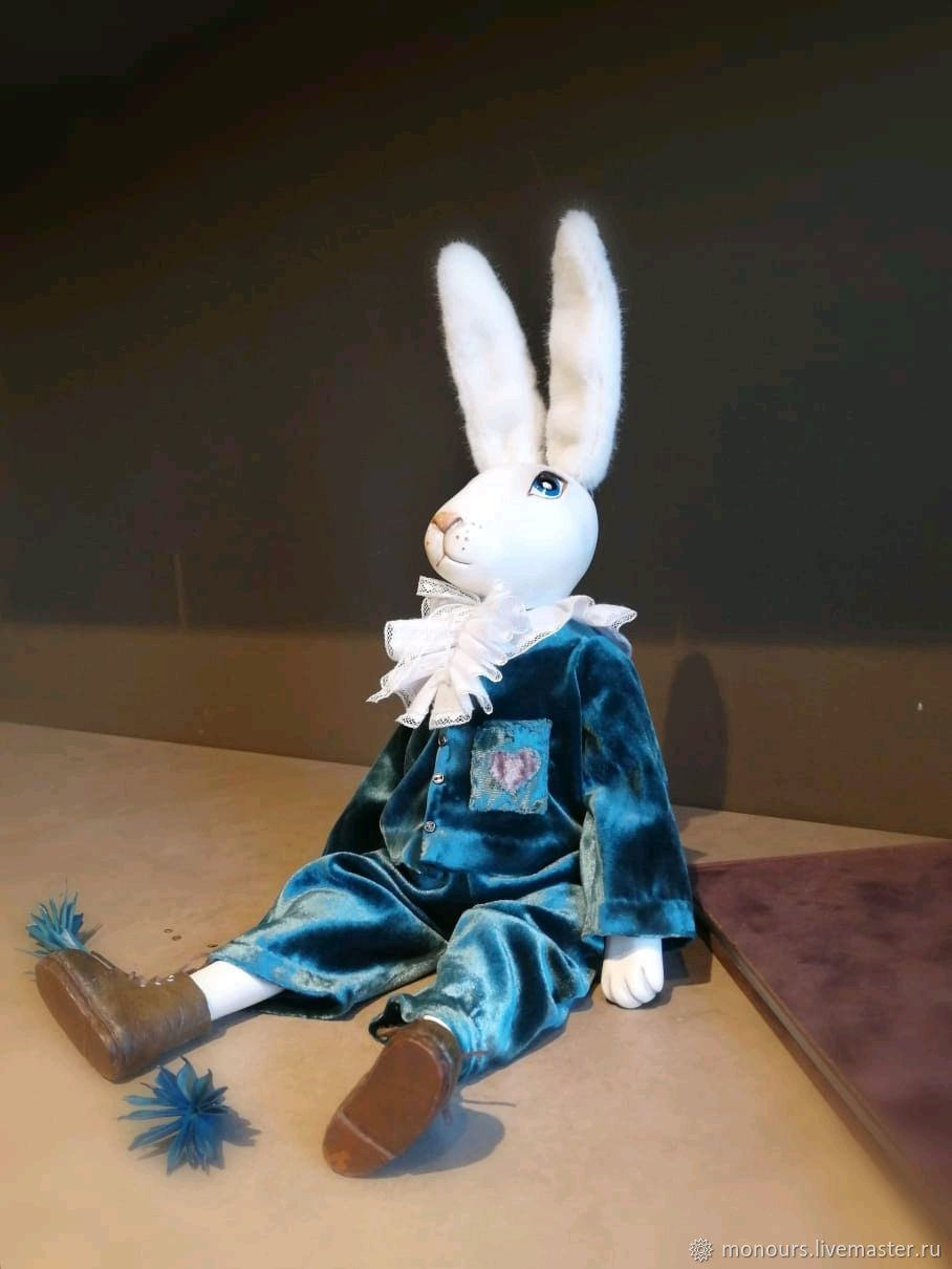 Rabbit Edward. Handmade. THE ONLY INSTANCE, Stuffed Toys, Moscow,  Фото №1