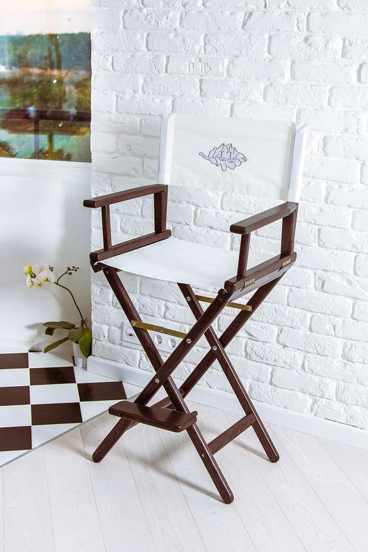 Мебель ручной работы. Ярмарка Мастеров - ручная работа. Купить Режиссерское кресло - черный белый. Handmade. Черный, режиссерское кресло