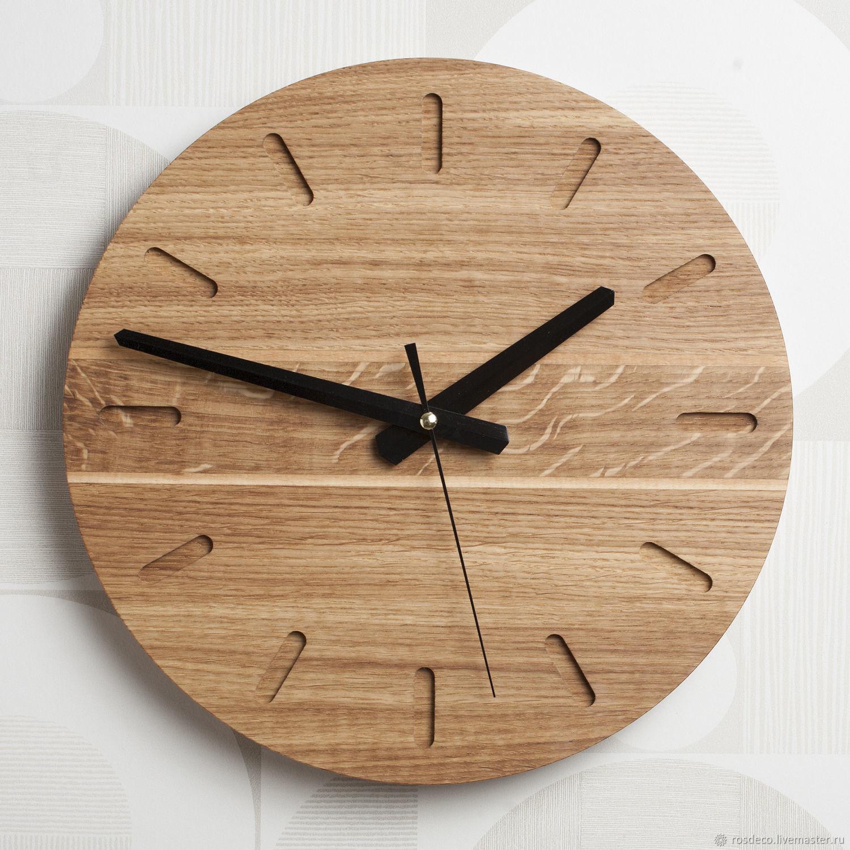 Часы настенные деревянные круглые из дуба. №27, Часы классические, Раменское,  Фото №1