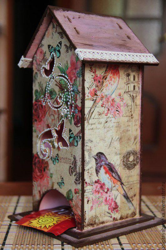 Кухня ручной работы. Ярмарка Мастеров - ручная работа. Купить Чайный домик. Handmade. Комбинированный, винтажный стиль, кружево, птицы