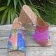Обувь ручной работы. Ярмарка Мастеров - ручная работа. Купить Сабо из питона. Handmade. Разноцветный, босоножки женские, шлепанцы