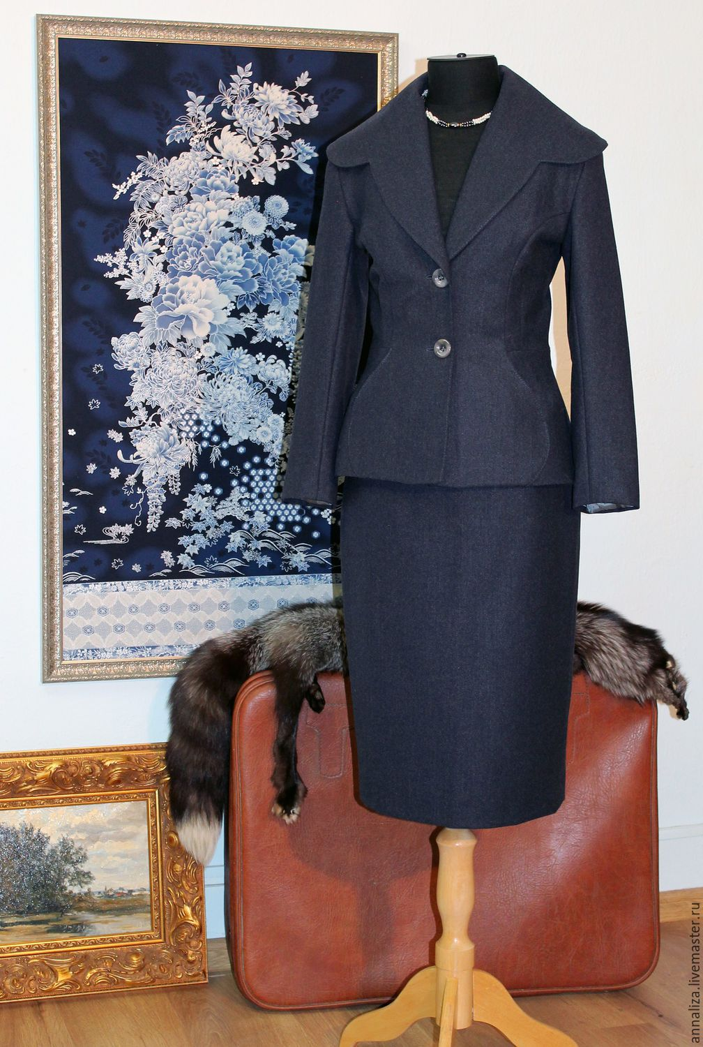 Women's business suit in a retro style 'Lady BOSS 2', Suits, Moscow,  Фото №1
