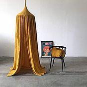 Canopy for crib handmade. Livemaster - original item Canopy made of soft muslin-Tent for a child`s bed. Handmade.