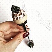 """Посуда ручной работы. Ярмарка Мастеров - ручная работа Ложка """"Шоколадный капкейк"""". Handmade."""