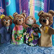 """Кукольный театр ручной работы. Ярмарка Мастеров - ручная работа Кукольный театр на руку. Сказка """"Три медведя"""". Handmade."""