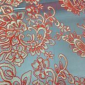 Тюль с кордовым шитьем.  Италия