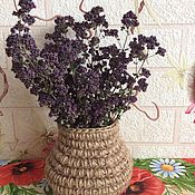 Для дома и интерьера handmade. Livemaster - original item Basket -mini jute with a bouquet of oregano. Handmade.