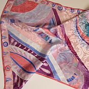 Shawls1 handmade. Livemaster - original item Batik scarf Jacquard. Natural silk 100%.. Handmade.