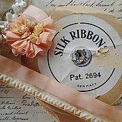 Ленты ручной работы. Ярмарка Мастеров - ручная работа Антикварная лента 23 мм., цена за 9 см., цвет персиковый. Handmade.