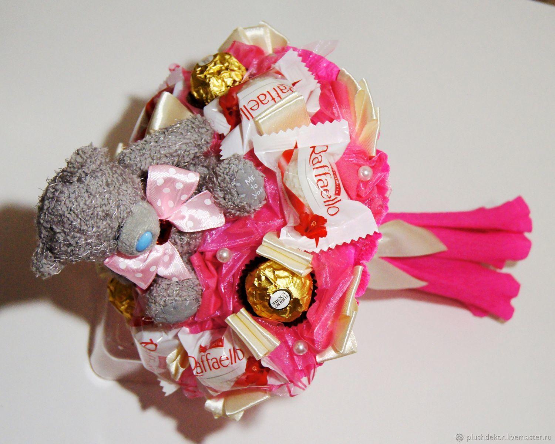 """Букет из игрушек и конфет """"Сюрприз розовый"""", Букеты, Москва, Фото №1"""