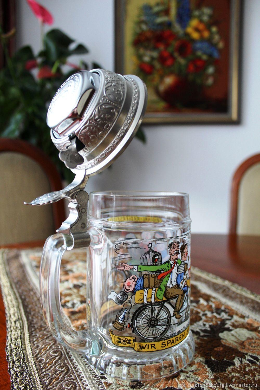 Reserva. Vintage de cerveza taza de alemania, Vintage Souvenirs, Goppingen,  Фото №1