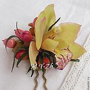 Украшения handmade. Livemaster - original item Hairpin Orchid. Handmade.