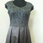 Одежда ручной работы. Ярмарка Мастеров - ручная работа 328:Кружевное платье на выход, коктейльное платье шелковое. Handmade.