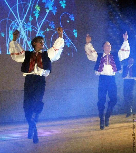 Танцевальные костюмы ручной работы. Ярмарка Мастеров - ручная работа. Купить Румынский национальный костюм. Handmade. Тёмно-синий