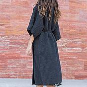 Одежда ручной работы. Ярмарка Мастеров - ручная работа Вязаное пальто из хлопка. Handmade.