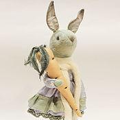 Куклы и игрушки ручной работы. Ярмарка Мастеров - ручная работа Крольчик с морковкой.. Handmade.