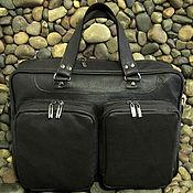 Сумки и аксессуары handmade. Livemaster - original item Men`s leather business bag LEADER dark chocolate. Handmade.