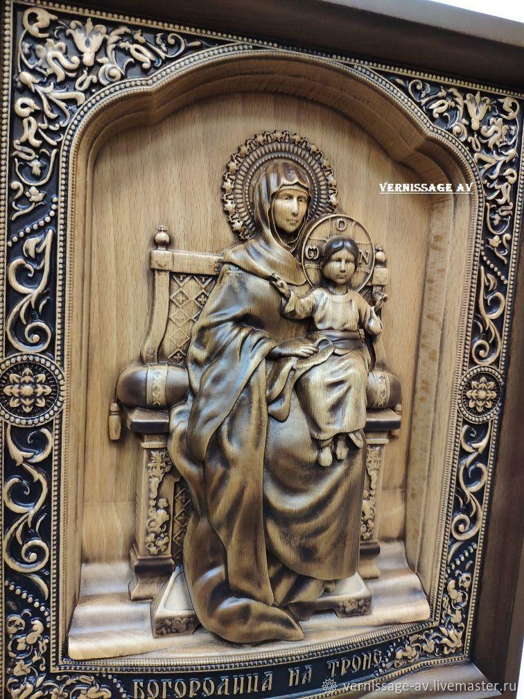 Икона Богородица на троне, Иконы, Санкт-Петербург,  Фото №1
