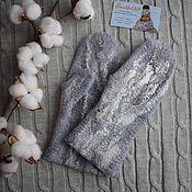Аксессуары handmade. Livemaster - original item Felted mittens,warm woolen mittens made of natural wool. Handmade.