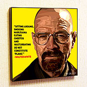 Картины и панно handmade. Livemaster - original item Picture poster breaking bad Walter white. Handmade.