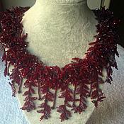 Украшения handmade. Livemaster - original item Necklace Garnet fur. Handmade.