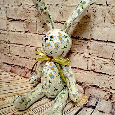 """Куклы и игрушки ручной работы. Ярмарка Мастеров - ручная работа Льняной Зайка """"Ромашковый"""". Handmade."""