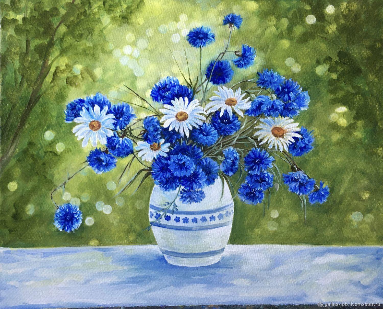 Картина «Букет полевых цветов», размер 40х50, холст, масло, Картины, Абдулино,  Фото №1