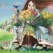 Картины и панно ручной работы. Ярмарка Мастеров - ручная работа Картина Полные карманы весны. Handmade.