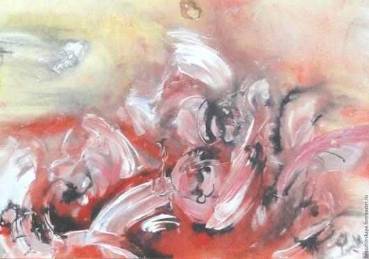 Абстракция ручной работы. Ярмарка Мастеров - ручная работа. Купить Танец.Абстракция.. Handmade. Комбинированный, абстрактный, абстрактная картина