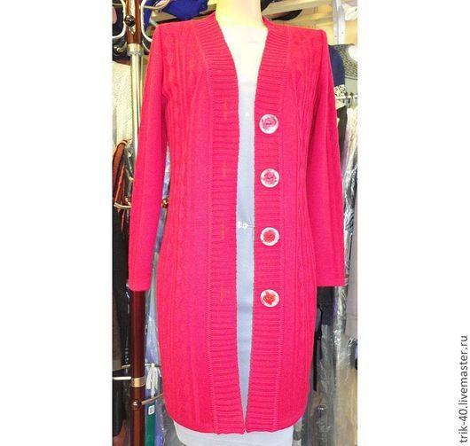 """Верхняя одежда ручной работы. Ярмарка Мастеров - ручная работа. Купить Пальто""""3. Handmade. Ярко-красный, пальто демисезонное"""