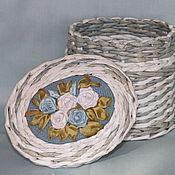 Для дома и интерьера ручной работы. Ярмарка Мастеров - ручная работа Коробочки из газетной лозы. Handmade.