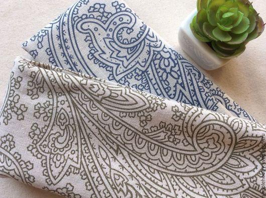 """Шитье ручной работы. Ярмарка Мастеров - ручная работа. Купить Ткань лен """"Пейсли"""". Handmade. Разноцветный, ткань для шитья, шитье"""