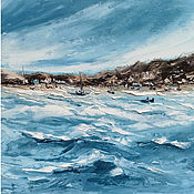 Картины и панно handmade. Livemaster - original item Oil painting sea California coast Marine abstract landscape. Handmade.