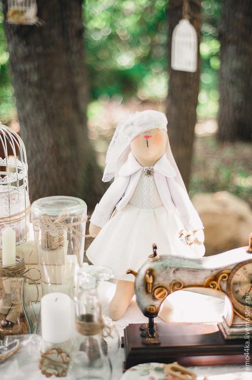 Куклы Тильды ручной работы. Ярмарка Мастеров - ручная работа. Купить Зайка Невеста. Handmade. Белый, кукла ручной работы
