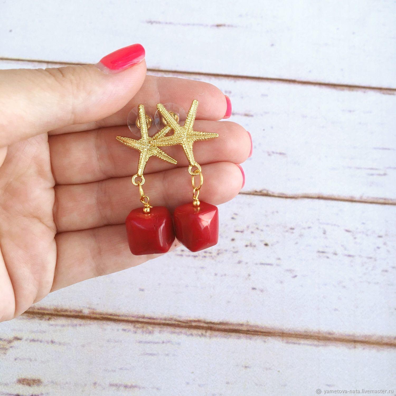 Earrings 'Coral reef', Earrings, Abakan,  Фото №1