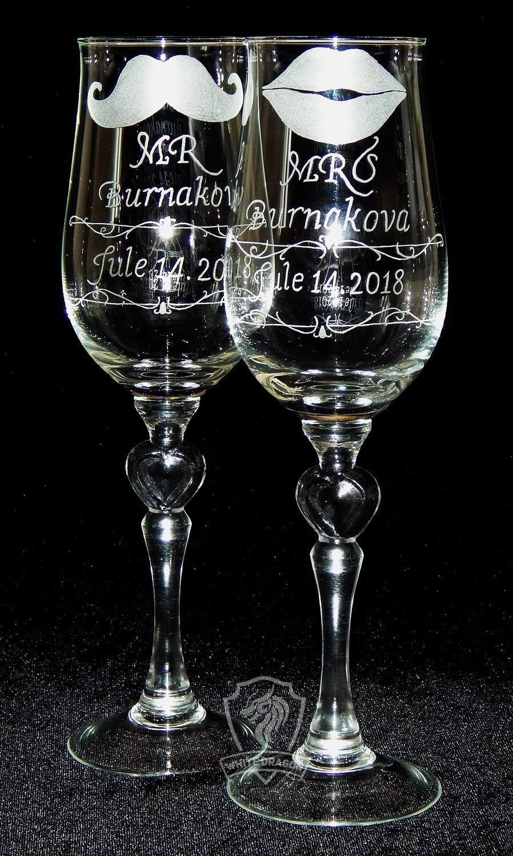 Wedding glasses engraved, Wedding glasses, Nizhny Novgorod,  Фото №1