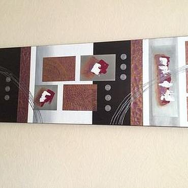 """Картины и панно ручной работы. Ярмарка Мастеров - ручная работа Панно """"Золотое сечение"""" - """"Королевский пурпур"""". Handmade."""