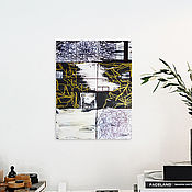 Картины и панно handmade. Livemaster - original item Thought Pattern. Graphics, abstraction, strokes, lines. Black-and-white, gold. Handmade.
