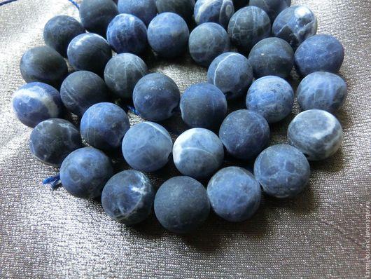 Для украшений ручной работы. Ярмарка Мастеров - ручная работа. Купить Содалит бусина шар синий. Handmade. Камни для бижутерии