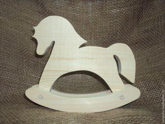Лошадка-качалка, деревянная игрушка ручной работы